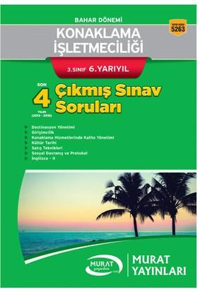Murat Yayınları Açıköğretim 5263 Konaklama İşletmeciliği 3. Sınıf 6. Yarıyıl Son 4 Yılın Çıkmış Sınav Soruları
