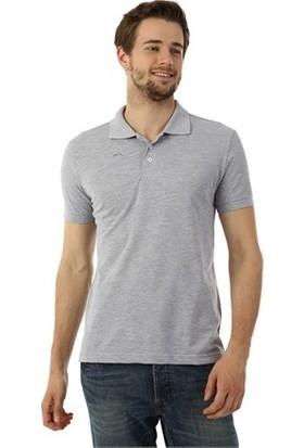 Mervem Lakos T-Shirt Polo Yaka Gri