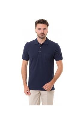 Mervem Lakos T-Shirt Polo Yaka Lacivert