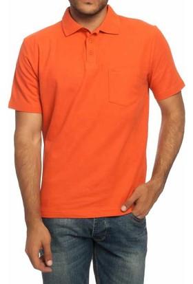Mervem Lakos T-Shirt Polo Yaka Turuncu