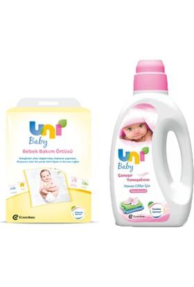 Uni Baby Çamaşır Yumuşatıcı 1500 ml - Bebek Bakım Örtüsü 10'lu