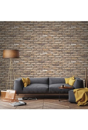 Bien Taş Tuğla Desen 9030 Duvar Kağıdı Model Yılı 2017 (5 M²)