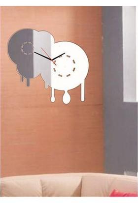 M3 Decorium Ev Aynası Kırılmaz Ayna Saat
