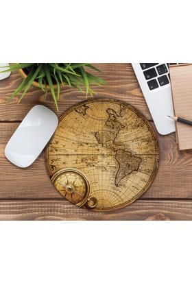 iF Dizayn Eski Dünya Haritası Tasarım Mouse Pad