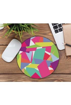 iF Dizayn Geometri Tasarım Renkli Mouse Pad