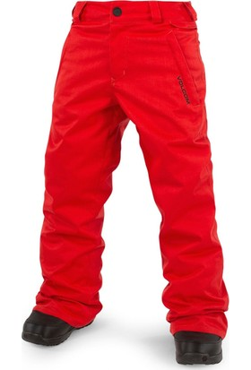 Volcom Explorer Insulated Çocuk Snowboard Pantolonu - Kırmızı