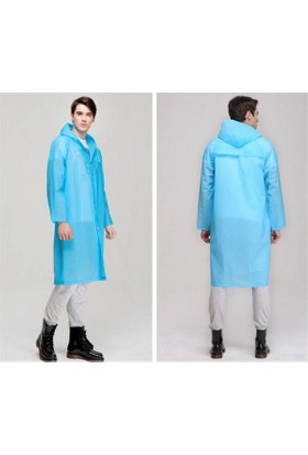 Tbg Pratik Kalin Unisex Çit Çitli Yağmurluk - Mavi
