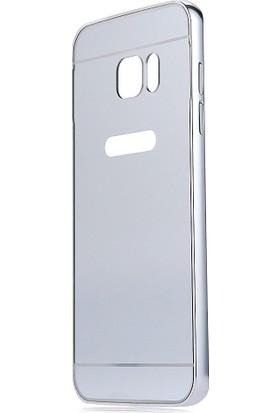 İmpashop Samsung Galaxy S7 Edge Aynalı Kılıf Bumper Çerçeve