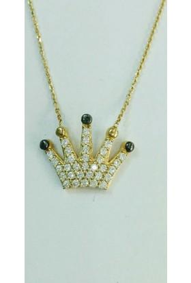 Aydın Mücevherat 14 Ayar Kral Tacı Kolye