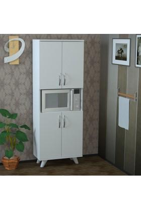 Pegai Nora 4 Kapak Raflı Mutfak Dolabı Beyaz M9