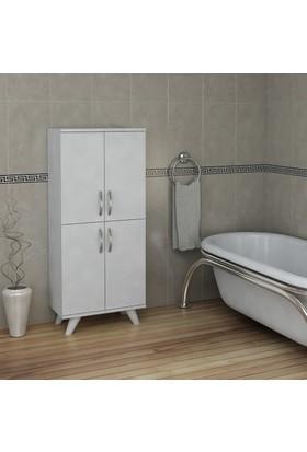 Pegai Nora 4 Kapak Banyo Dolabı Beyaz 07