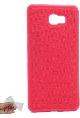 Teleplus Samsung Galaxy C9 Pro Kumaş Kaplama Silikon Kılıf