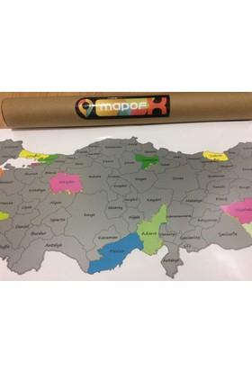 Mapofx Gez - Kazı Harita - Kazınabilir Türkiye Haritası - Scracth Map