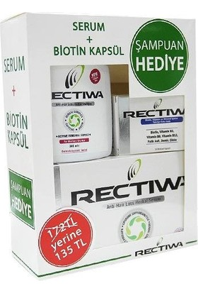 Rectiwa Kofre Serum + Biotin Kuru + Normal Şampuan