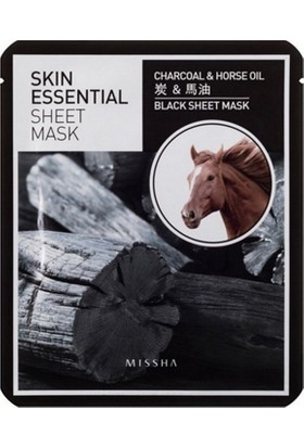 Missha Skin Essential Sheet Mask (Charcoal&Horse Oil)