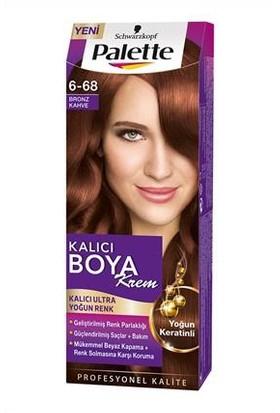 Palette Yoğun Göz Alcı Renkler Krem Saç Boyası 6-68 Bronz Kahve