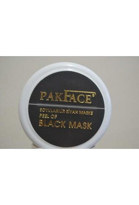 Pakface Soyulabilir Siyah Maske 200Ml