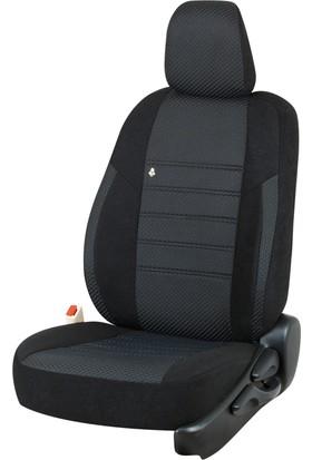 Otom Seat Leon Sport 2013-Sonrası J-108 Siyah Araca Özel Koltuk Kılıfı