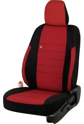 Otom Seat Leon Sport 2013-Sonrası J-109 Kırmızı Araca Özel Koltuk Kılıfı