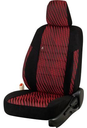 Otom Seat Leon Sport 2013-Sonrası J-113 Kırmızı Araca Özel Koltuk Kılıfı