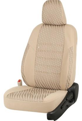 Otom Seat Leon Sport 2013-Sonrası J-129 Krem Araca Özel Koltuk Kılıfı