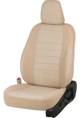 Otom Seat Leon Sport 2013-Sonrası J-131 Krem Araca Özel Koltuk Kılıfı
