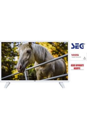 """SEG 32SC5600 32"""" 81 Ekran Dahili Uydu Alıcılı Beyaz LED TV + Askı Aparatı"""