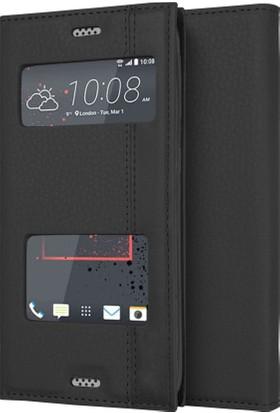 Microsonic HTC Desire 530 Kılıf Gizli Mıknatıslı Dual View Delux