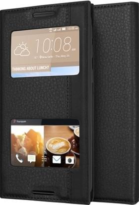 Microsonic HTC Desire 830 Kılıf Gizli Mıknatıslı Dual View Delux