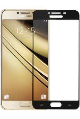 Microsonic Samsung Galaxy C7 3D Kavisli Temperli Cam Ekran koruyucu Film