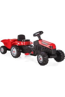 Pilsan Active Römorklu Traktör Pedallı / Kırmızı