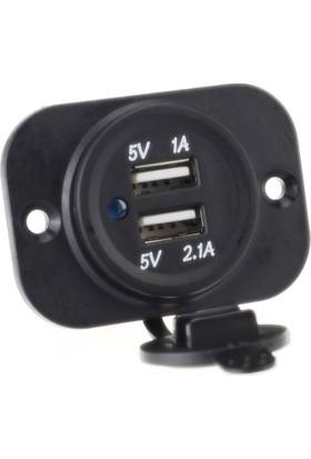 ModaCar Motorsiklet Su Geçirmez USB Şarj Soketi 106033