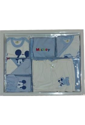 Disneybaby Mickey Mouse 10'lu Set Ekru Mavi