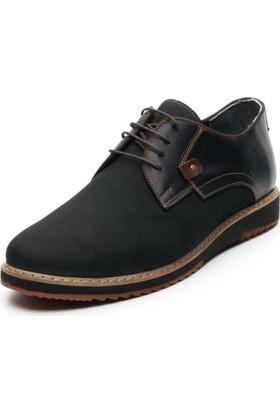 İriadam İ4296 Siyah Nubuk Eva Taban Ayakkabı