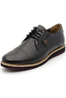 İriadam İ4320 Siyah Deri Eva Taban Ayakkabı
