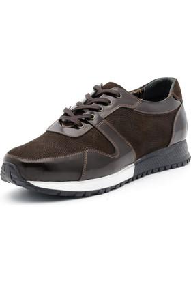 İriadam İ4329 Kahve Rugan Nubuk Spor Ayakkabı