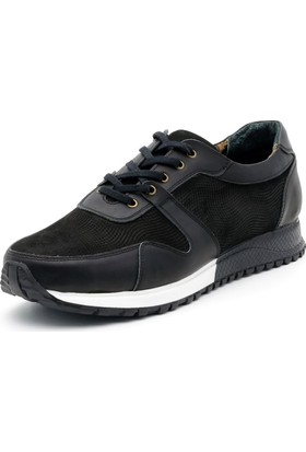 İriadam İ4329 Siyah Analin Nubuk Spor Ayakkabı
