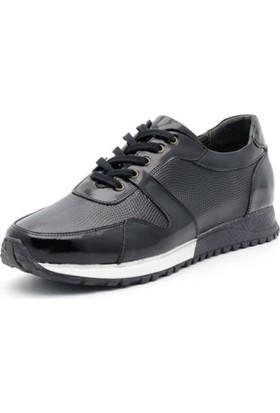 İriadam İ4329 Siyah Rugan Spor Ayakkabı
