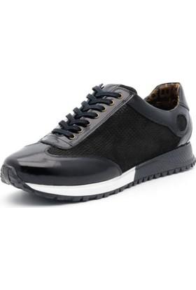 İriadam İ4331 Siyah Rugan Nubuk Spor Ayakkabı