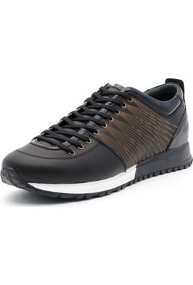 İriadam İ4332 Siyah Analin Kahve Spor Ayakkabı