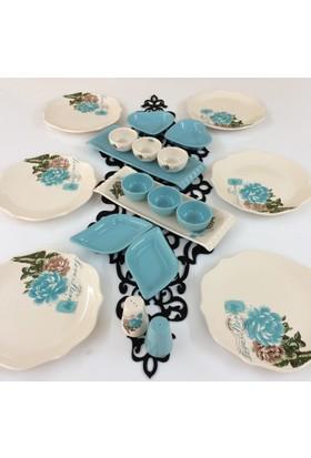 Keramika 6 Kişilik 20 Parça Kahvaltı Takımı