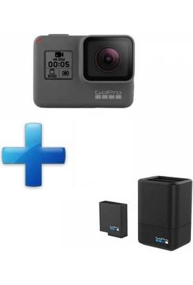 Gopro Hero 5 Black Aksiyon Kamerası ve İkili Şarj Cihazı + Batarya Combo Set