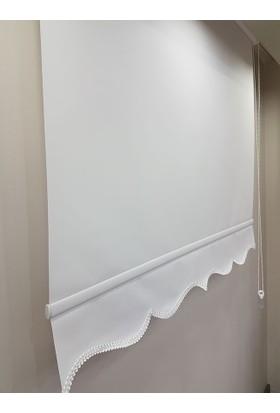 Brillant Düz Stor Perde Beyaz MS1200