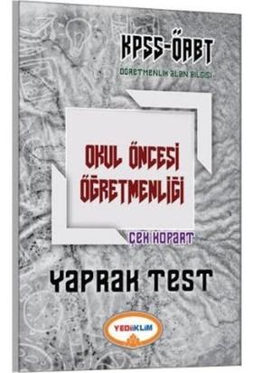 Yediiklim Kpss Öabt Okul Öncesi Öğretmenliği Çek Kopart Yaprak Test