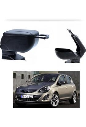 Autoen Opel Corsa D 2007-2014 Bardaklıklı Kol Dayama Kolçak Siyah