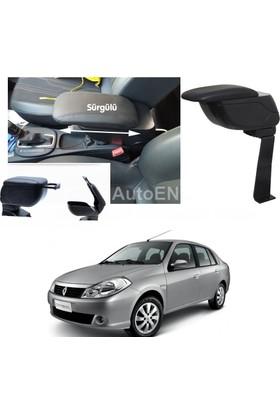Autoen Renault Symbol 2 Sedan 2008-2012 Bardaklıklı Kol Dayama Kolçak Siyah Delme Yok!