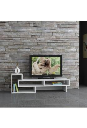 Decortie Tetra Tv Sehpası Beyaz