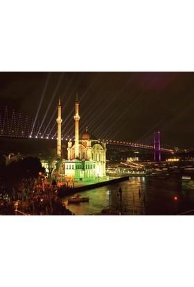 Rengo - İstanbul - Ortaköy Camii Kanvas Tablo (0048)