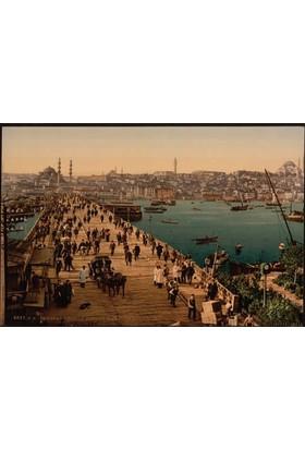 Rengo - İstanbul - Galata Köprüsü Kanvas Tablo (0055)
