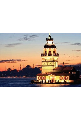 Rengo - İstanbul - Kız Kulesi Kanvas Tablo (0083)